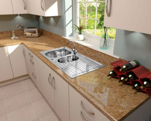 SupaPlumb Reversible 1.5 Bowl Sink - With Monoblock Tap